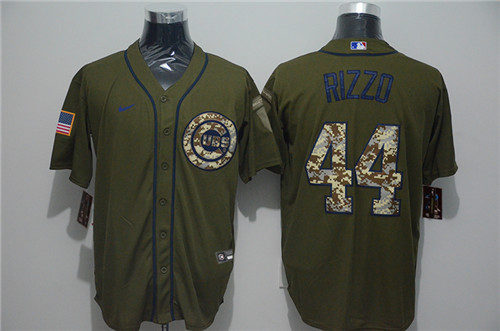 Cubs 44 Anthony Rizzo Olive 2020 Nike Cool Base Jersey