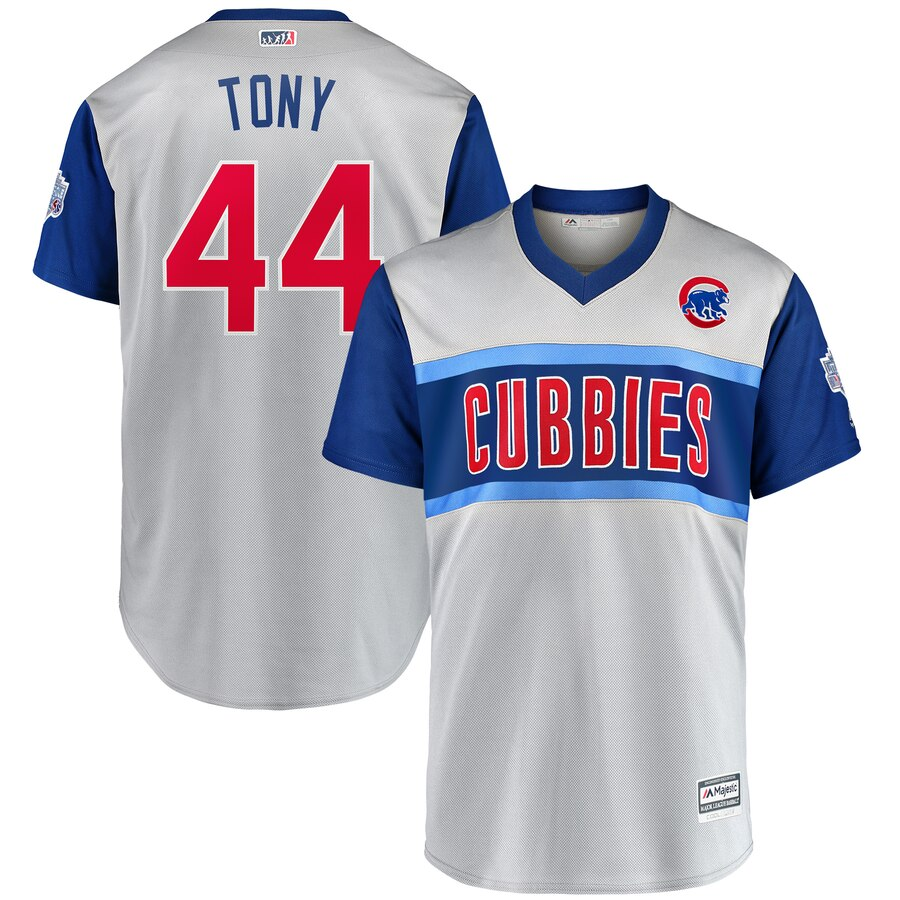 Cubs 44 Anthony Rizzo Tony Gray 2019 MLB Little League Classic Player Jersey