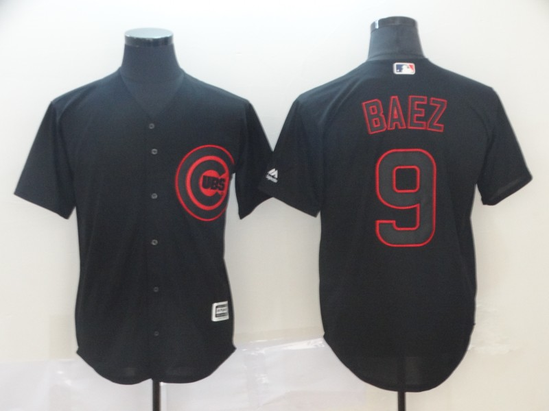 Cubs 9 Javier Baez Black Shadow Legend Jersey