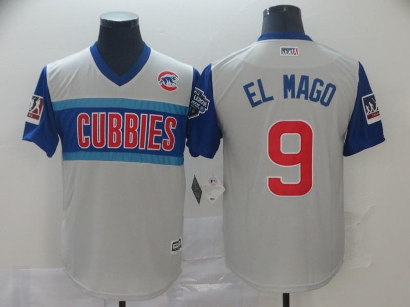 Cubs 9 Javier Baez El Mago Gray 2019 MLB Little League Classic Player Jersey