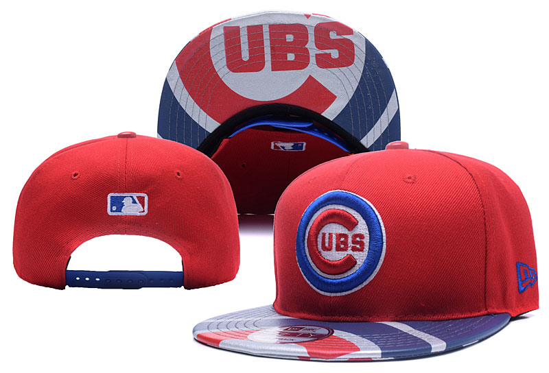 Cubs Team Logo Red Adjustable Hat YD