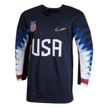 Custom 2018 USA Olympic Hockey Navy Color Jerseys (Any Name Any Number)