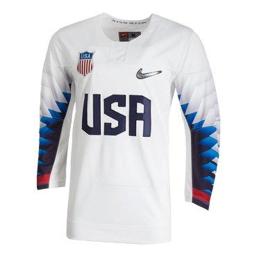 Custom 2018 USA Olympic Hockey White Color Jerseys(Any Name Any Number)