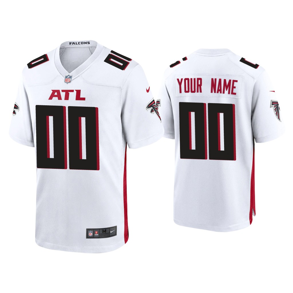 Custom Atlanta Falcons White 2020 new Vapor Limited Jerseys (1)