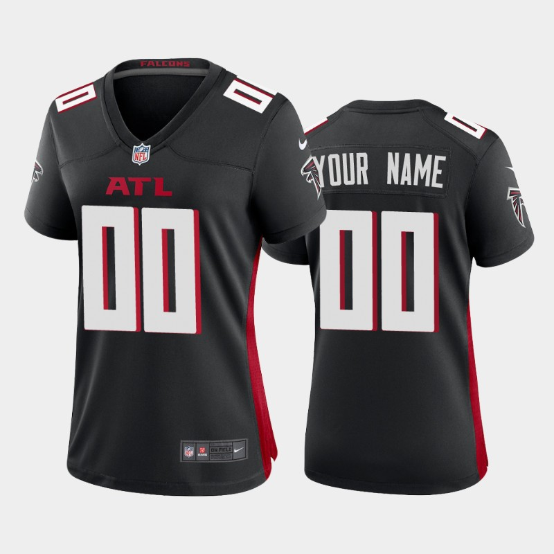 Custom Atlanta Falcons black 2020 new Vapor Limited Women Jerseys