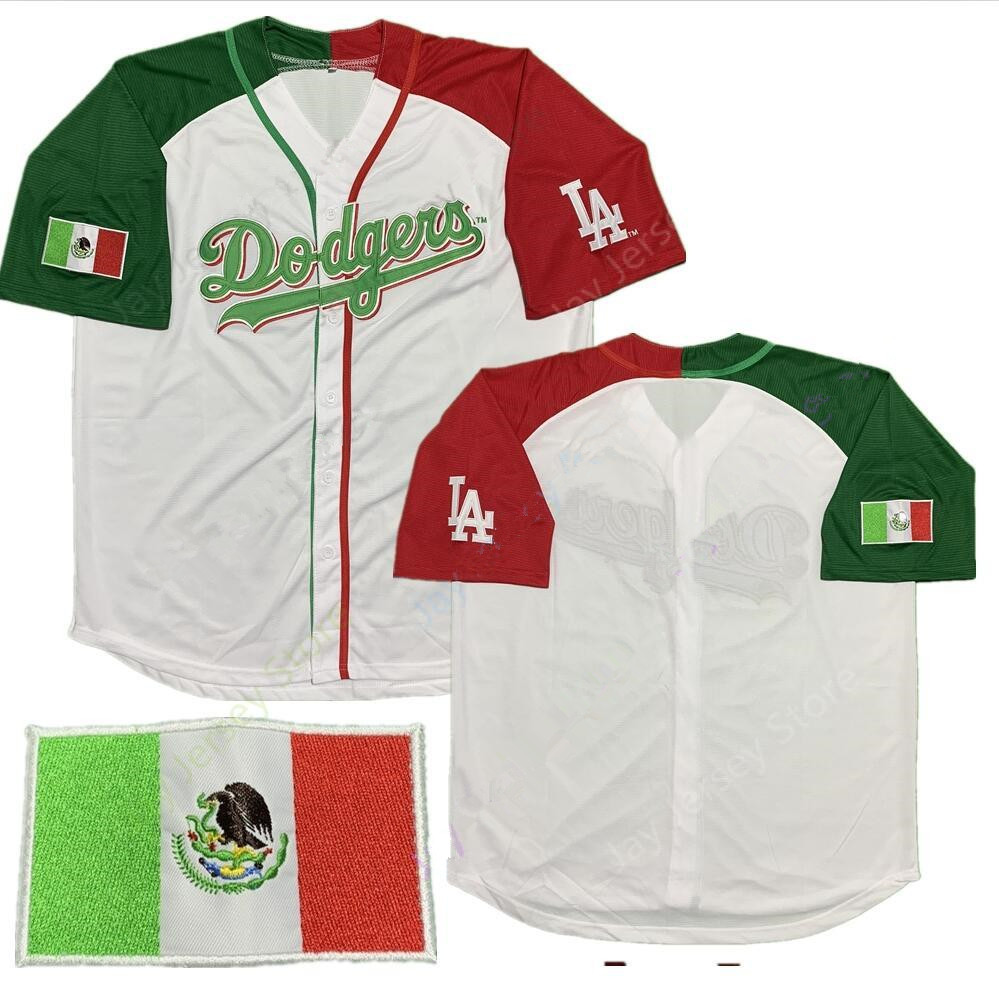 Custom Dodgers Mexican Baseball Jersey