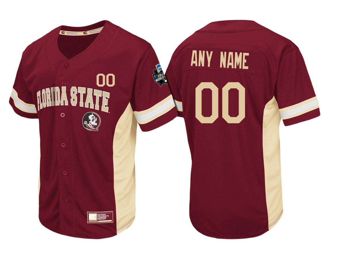 Custom Florida State Seminoles Cardinal Custom Baseball Jersey