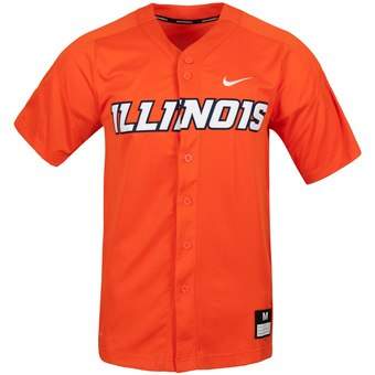 Custom Illinois Fighting Illini Orange College Baseball Jersey