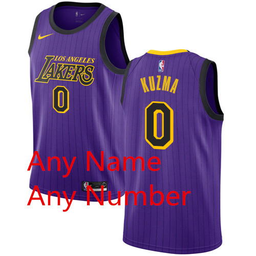 Custom Nike Lakers Purple NBA Swingman City Edition 2018 19 Jersey