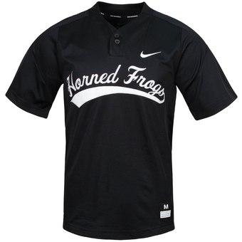 Custom TCU Horned Frogs Black Vapor College Baseball Jersey