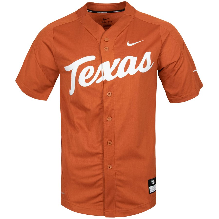 Custom Texas Longhorns Texas Orange College Baseball Jersey