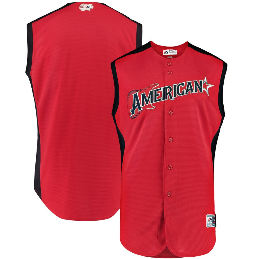 Customize Any Name Any Number American League Red 2019 MLB All-Star Workout Team Jersey