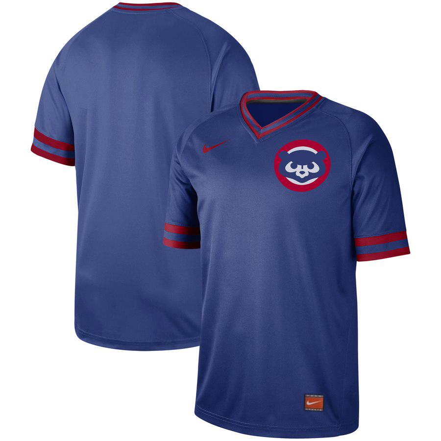 Customized Cubs Blue Throwback Jersey