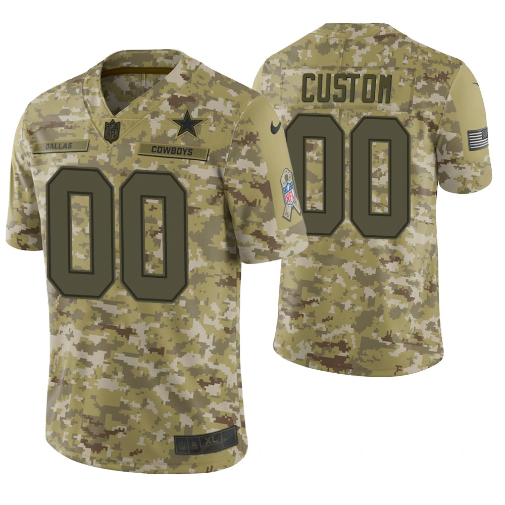 Dallas Cowboys Custom Camo 2018 Salute to Service Limited Jersey