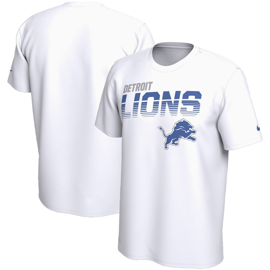 Detroit Lions Nike Sideline Line Of Scrimmage Legend Performance T-Shirt White