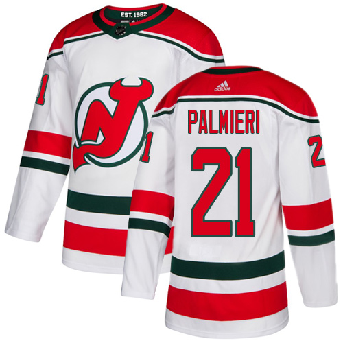 Devils #21 Kyle Palmieri White Alternate Authentic Stitched Hockey Jersey