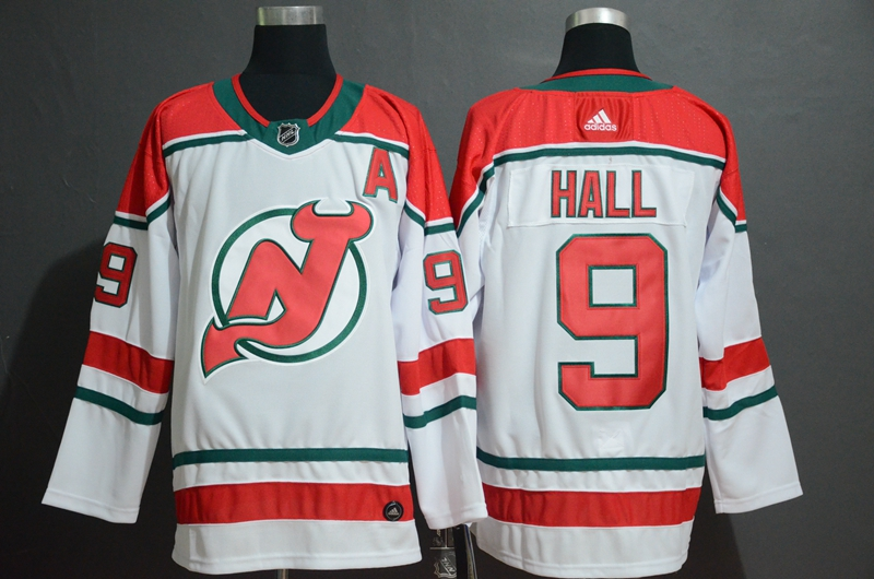Devils 9 Taylor Hall White Alternate Breakaway Adidas Jersey