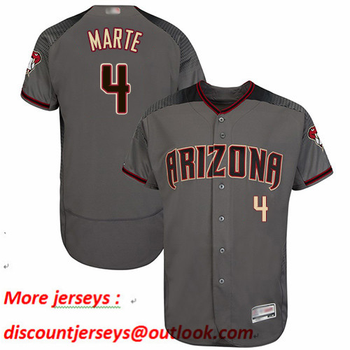 Diamondbacks #4 Ketel Marte Gray Flexbase Authentic Collection Stitched Baseball Jersey
