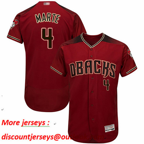 Diamondbacks #4 Ketel Marte Sedona Red Flexbase Authentic Collection Stitched Baseball Jersey