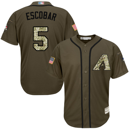 Diamondbacks #5 Eduardo Escobar Green Salute to Service Stitched Youth Baseball Jersey