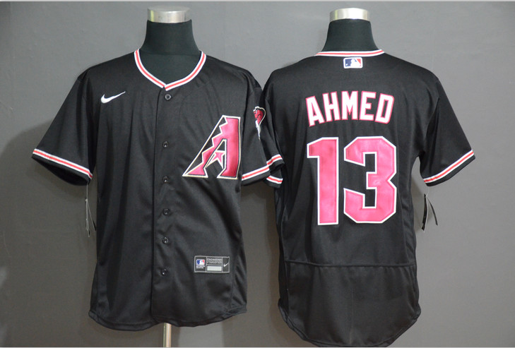 Diamondbacks 13 Nick Ahmed Black Nike Flexbase Jersey