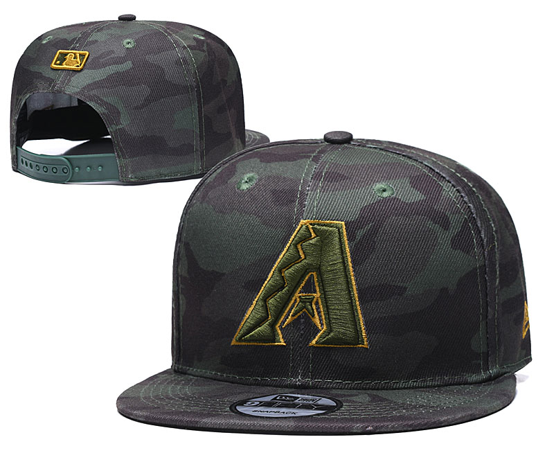Diamondbacks Team Logo Camo Adjustable Hat TX