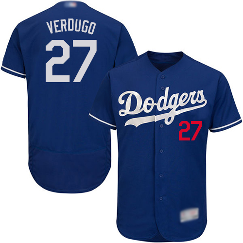 Dodgers #27 Alex Verdugo Blue Flexbase Authentic Collection Stitched Baseball Jersey