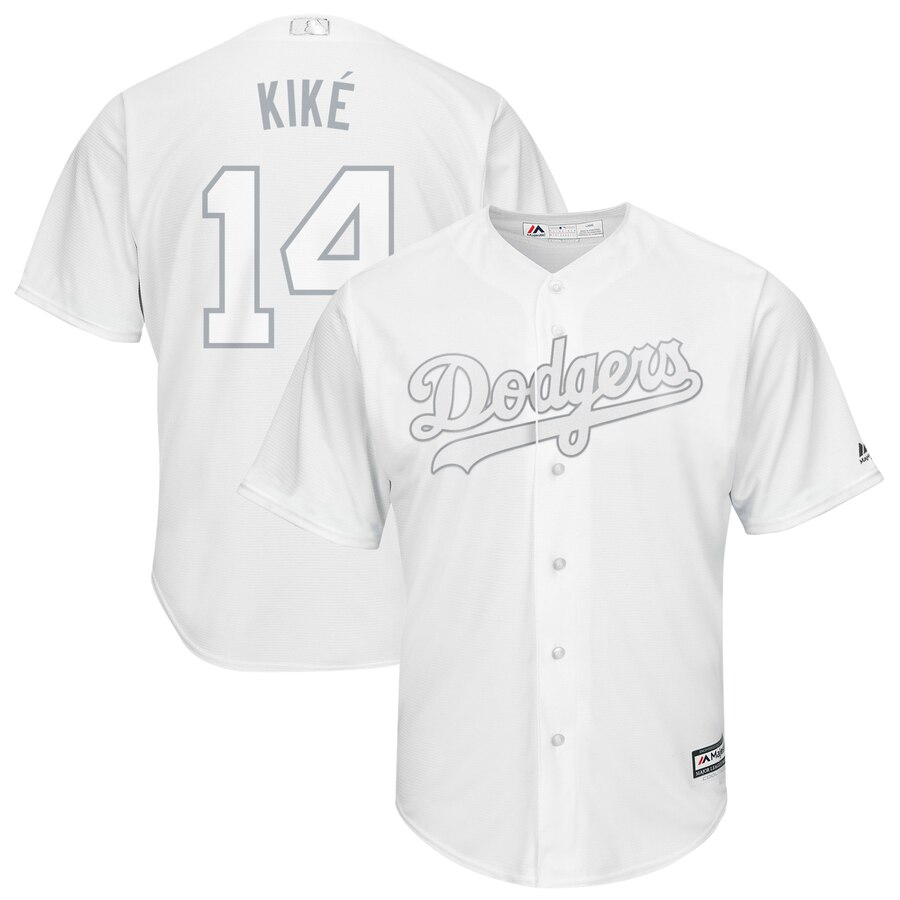 Dodgers 14 Enrique Hernandez Kike White 2019 Players' Weekend Player Jersey