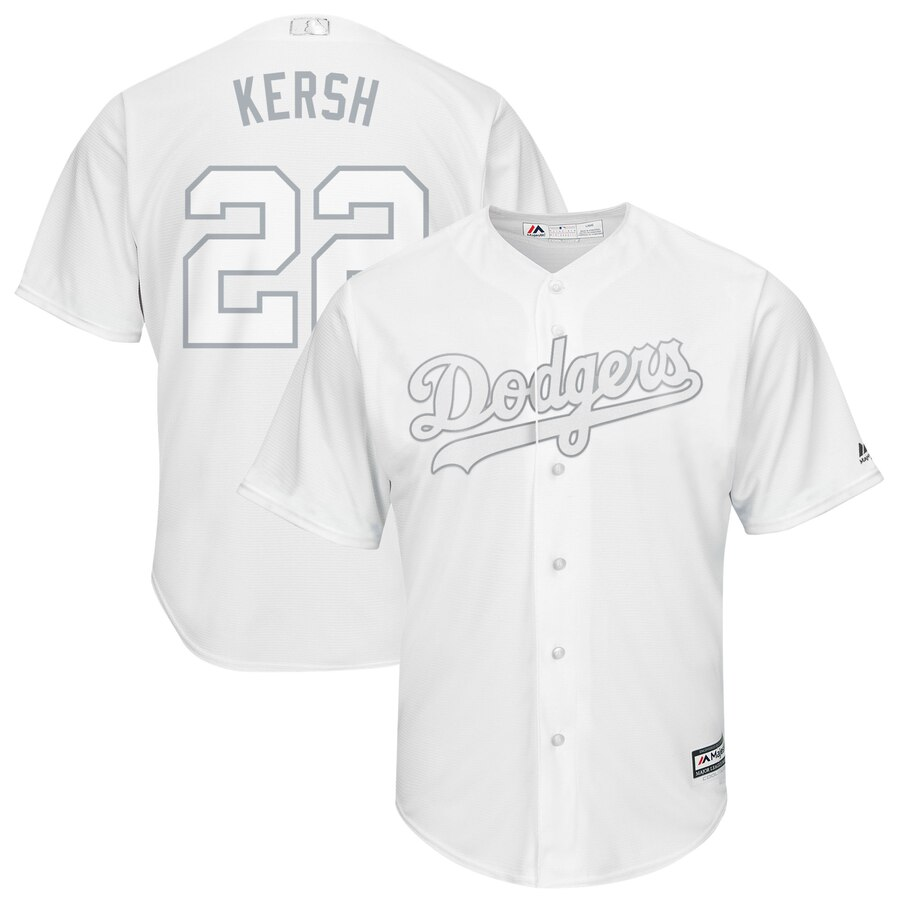 Dodgers 22 Clayton Kershaw Kersh White 2019 Players' Weekend Player Jersey