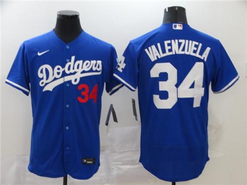Dodgers 34 Fernando Valenzuela Royal 2020 Nike Flexbase Jersey