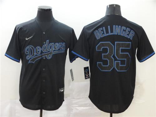 Dodgers 35 Cody Bellinger Black Shadow 2020 Nike Cool Base Jersey