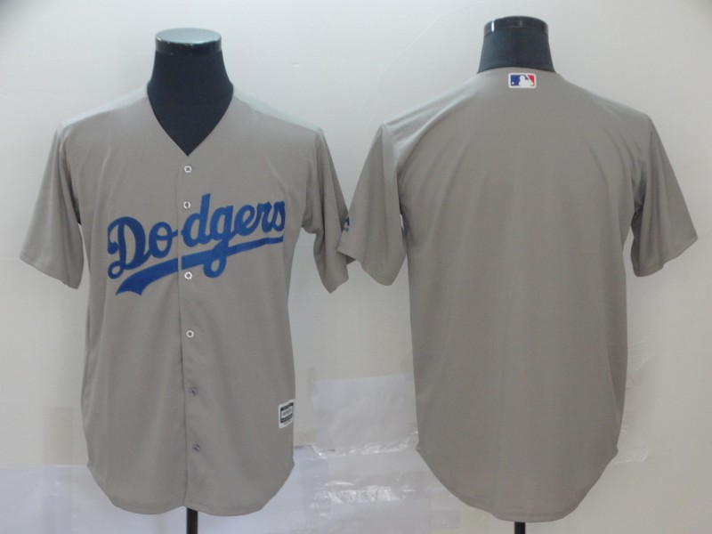 Dodgers Blank Gray Cool Base Jersey