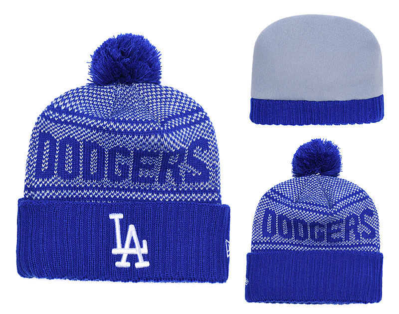 Dodgers Team Logo Royal Knit Hat YD