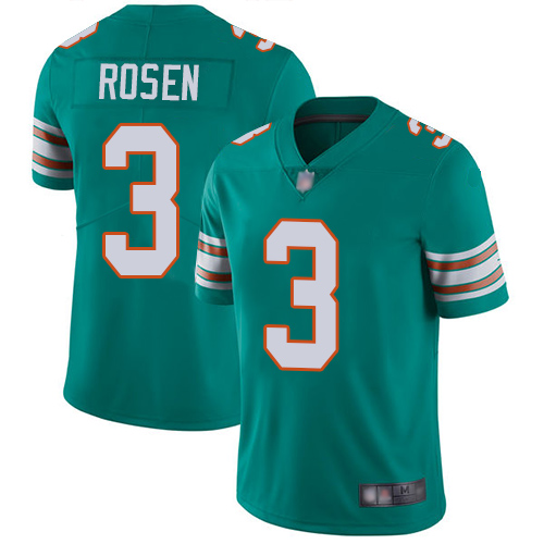 Dolphins #3 Josh Rosen Aqua Green Alternate Men's Stitched Football Vapor Untouchable Limited Jersey