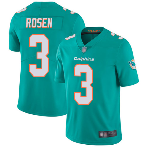 Dolphins #3 Josh Rosen Aqua Green Team Color Youth Stitched Football Vapor Untouchable Limited Jersey