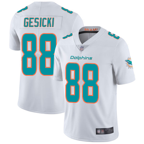 Dolphins #88 Mike Gesicki White Men's Stitched Football Vapor Untouchable Limited Jersey