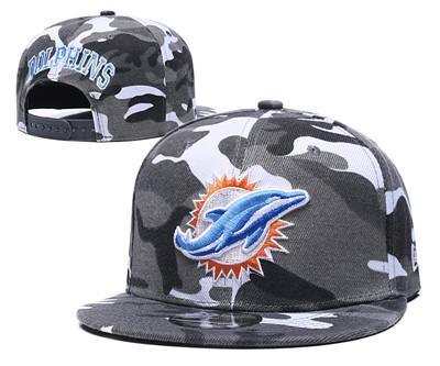 Dolphins Team Logo Camo Adjustable Hat GS