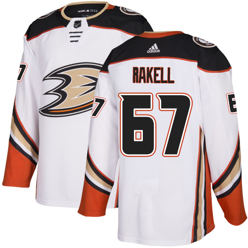 Ducks #67 Rickard Rakell White Road Authentic Stitched Hockey Jersey