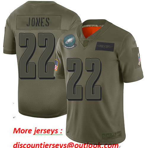 Eagles #22 Sidney Jones Camo Youth Stitched Football Limited 2019 Salute to Service Jersey