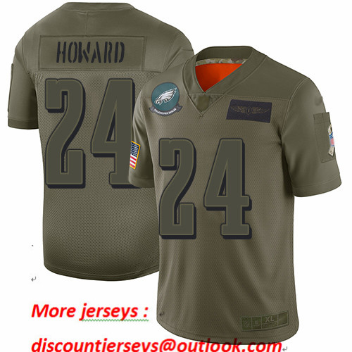 Eagles #24 Jordan Howard Camo Youth Stitched Football Limited 2019 Salute to Service Jersey