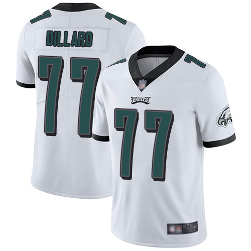 Eagles #77 Andre Dillard White Men's Stitched Football Vapor Untouchable Limited Jersey