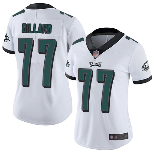 Eagles #77 Andre Dillard White Women's Stitched Football Vapor Untouchable Limited Jersey