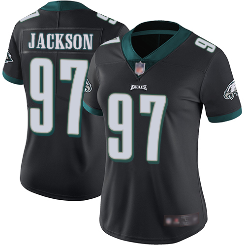 Eagles #97 Malik Jackson Black Alternate Women's Stitched Football Vapor Untouchable Limited Jersey