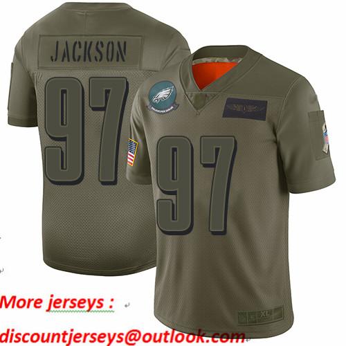 Eagles #97 Malik Jackson Camo Youth Stitched Football Limited 2019 Salute to Service Jersey