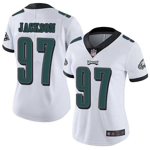Eagles #97 Malik Jackson White Women's Stitched Football Vapor Untouchable Limited Jersey