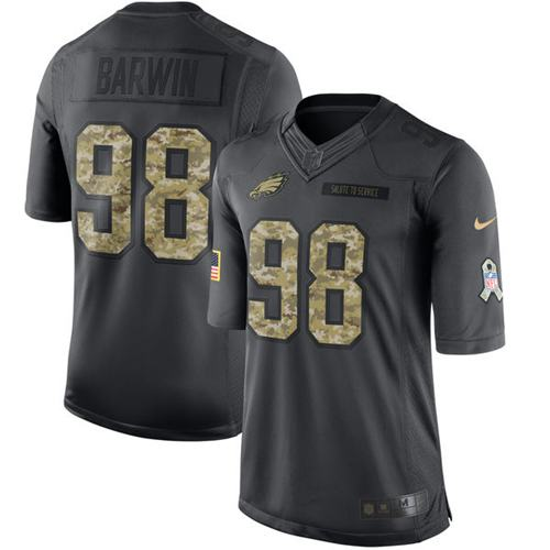 Eagles #98 Connor Barwin Black Men's Stitched NFL Limited 2016 Salute To Service Jersey Size XL