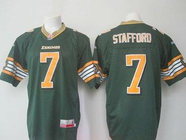 Edmonton Eskimos #7 Kenny Stafford Green Stitched CFL Jersey