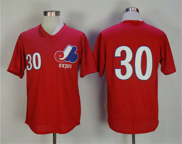 Expos 30 Tim Raines Red 1982 BP Jersey