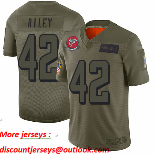 Falcons #42 Duke Riley Camo Youth Stitched Football Limited 2019 Salute to Service Jersey