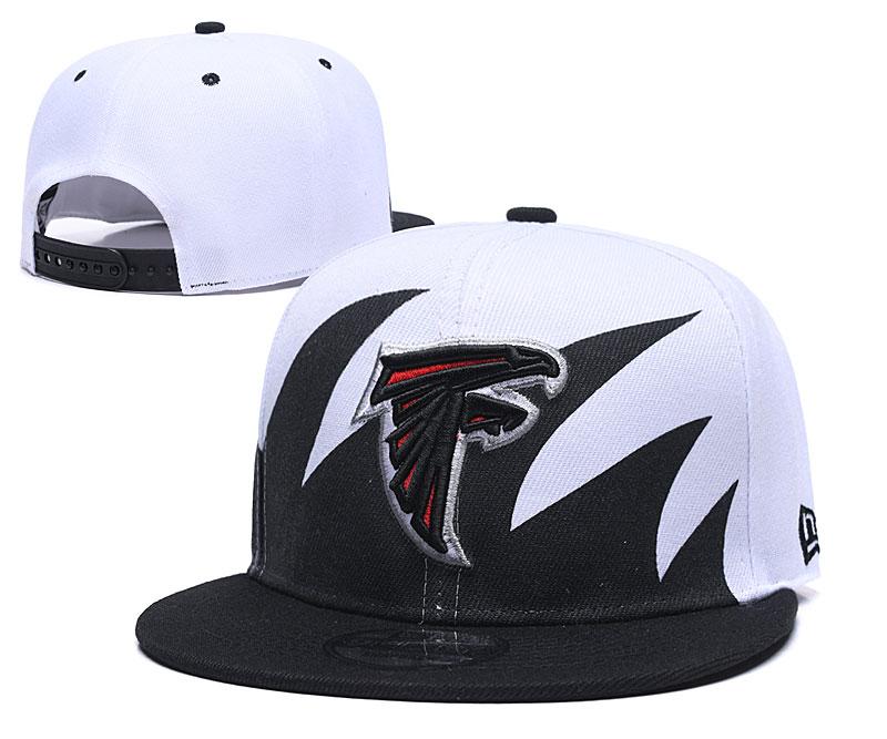 Falcons Fresh Logo White Black Adjustable Hat GS